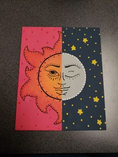Sun And Moon Canvas Painting