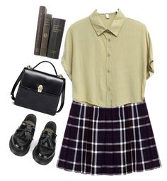 """sChool"" by rarranere ❤ liked on Polyvore featuring Alice + Olivia and YMC"