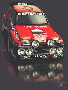 renault 5 rally art