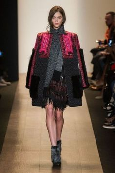 The first looks at fall fashion from NYFW15! BCBGMAXAZRIA shoes fringe-y looks are here to stay