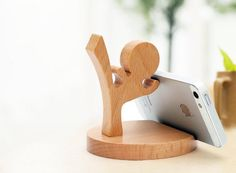 #Ninja Wooden #PhoneStand http://thegadgetflow.com/portfolio/ninja-wooden-phone-stand/?utm_content=buffer0c858&utm_medium=pinterest&utm_source=pinterest.com&utm_campaign=buffer It can rotate 360-degree and works as a versatile stand!