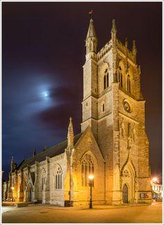 St Thomas Church, Newport, Magical place at night during Christmas season!