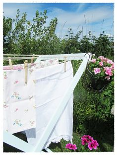 Hang your clothes on a clothes line in warm summer months rather than using energy from your dryer.