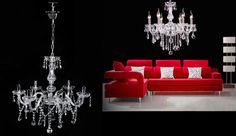 Clear Crystal Chandelier Lighting 6 Lights Fixture Pendant Ceiling Lamp Lighting #Unbranded #CrystalCandleFeatureVintage