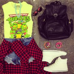 Pizza for breakfast, lunch and dinner!  Who agrees? #TMNT #OOTD