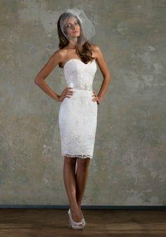 Vestito da sposa a tubino