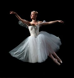 "The Royal Danish Ballet's J'aime Crandall in ""La Sylphide"" (photo by Costin Radu, courtesy RDB)"
