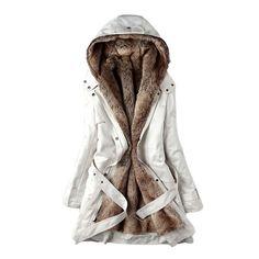 Hee Grand Women's Thicken Fleece Faux Fur Coat at Amazon Women's Coats Shop