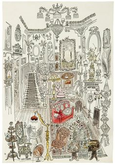 Saul Steinberg, Gingerbread House, 1946