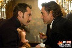 Dr. Watson (Jude Law) and Sherlock Holmes (Robert Downey Jr.)