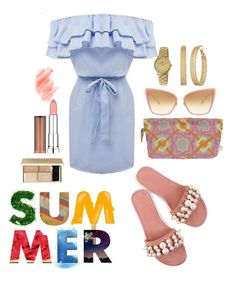 """""""Summer Fun"""" by tjwstyleconsultant on Polyvore featuring SEP, Birchrose + Co., Maybelline, Dita, Gomelsky and GUESS"""
