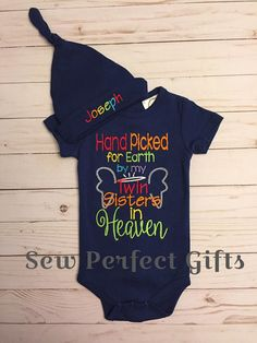 94611470a315 Handpicked for Earth Onesie, hand picked for earth, rainbow baby onesie,  pregnancy after loss, Heaven Onesie, Going home outfit