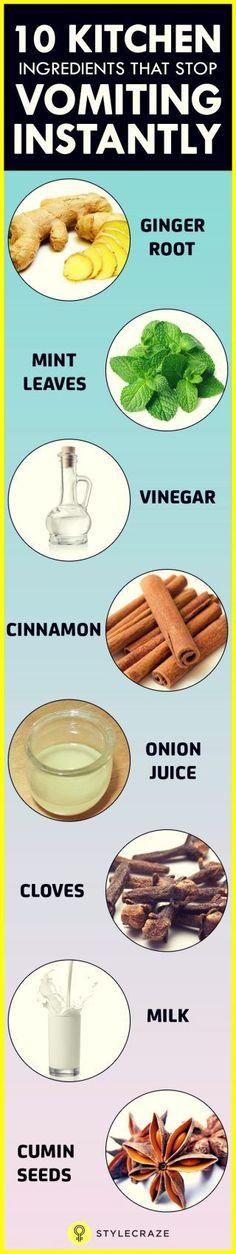 10 kitchen Ingredients That Stop Vomiting Instantly