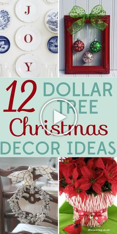 12 Dollar Tree Christmas Decor Ideas 12 Dollar Tree Christmas Decor Ideas,Bargain Babe Bring in the holiday spirit with these cheap and easy Dollar Tree Christmas decor ideas! No one will ever guess how. Dollar Tree Christmas, Diy Christmas Gifts For Family, Outdoor Christmas Decorations, Simple Christmas, Christmas Holidays, White Christmas, Christmas Trees, Cheap Christmas Crafts, Christmas Quotes