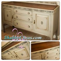 1020's Buffet Painted French Country shabby chic