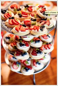 Fruit Pizzas (on sugar cookies)