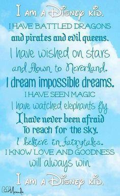 I'm a true Disney kid! :D