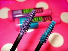 New Maybelline Great Lash limited edition shades- I have the violet and the hot pink and burgundy! So fun to change up your look!