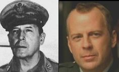 These 35 Celebrities With Twins From Centuries Ago Will Give You Chills! Bruce Willis and WWII General Douglas MacArthur