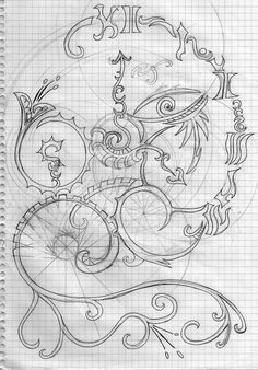 Amazing Gear Filigree    I can't believe people can draw like this.