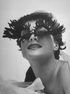 Sunglasses featuring long blue eyelashes & small lenses were dreamed up by designer Schiaparelli in 1951.