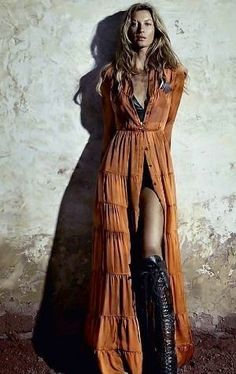 300 Boho-Style Fashion Looks – Boho Chic Hijab Outfit, Look Boho Chic, Bohemian Style, Boho Gypsy, Gypsy Style, Edgy Style, Mode Style, Mode Outfits, Hippie Chic