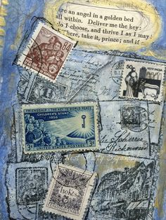 art journal inspiration ... Magpie's Nest Patty Szymkowicz Dawn was breaking art journal pages (1)