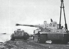 "8Kp. Tiger Nr. 812 with nickname ""TIKI"", eastern front."