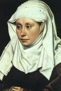 portrait of a lady by Robert Campin  www.artexperiencenyc.com