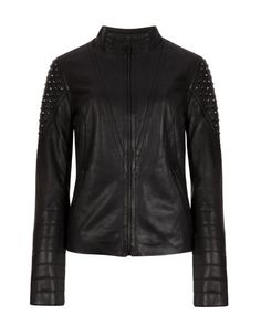 Quilted leather jacket - Black | Jackets & Coats | Ted Baker