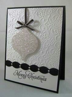 embossing folder background, glimmer paper ornament