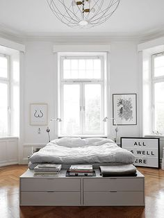 simple and modern white bedroom / sfgirlbybay