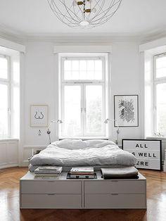 simple and modern white bedroom / sfgirlbybay