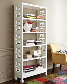 """Ratcliffe"" Etagere by Jonathan Adler at Horchow. not your blah bookcase! Jonathan Adler, Neiman Marcus, Cute Furniture, Etagere Bookcase, Decoration, Interior Inspiration, Furniture Inspiration, Bookshelves, Home Accessories"