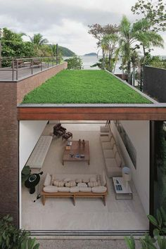 Great way to help sustain the environment and still create a modern interior space below.