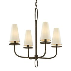 Marcel 4Lt Chandelier Bronze — France & Son