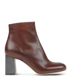 Chloé Leather Side-Zip Ankle Boot