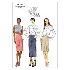 Misses' Skirt-A5 (6-8-10-12-14) Patternnull