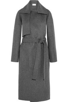 Minimal and Classic Style // Antonio Berardi Grey Wool-felt coat | NET-A-PORTER