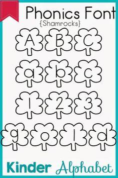 Kinder Alphabet: Phonics Fonts for Teachers Update Teacher Fonts, Preschool Literacy, Doll Clothes, Alphabet Phonics, Math Equations, Teaching, Fun Ideas, School Stuff, Kids Alphabet