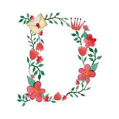 Royal floral alphabet on Behance