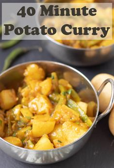 40 Minute Potato Curry 40 minute potato curry is a delicious easy vegan curry recipe. Youll love this healthy filling dish. Its perfect as a weeknight quick hearty meal! Source by wprecipemaker Nutritious Snacks, Quick Healthy Meals, Healthy Food Blogs, Healthy Recipes, Vegetarian Recipes Easy, Healthy Dishes, Healthy Nutrition, Curry Recipes, Veggie Recipes