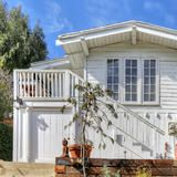 It may be little at 826 square feet, but this tiny home is awesome! Tucked away on the Eastside of L.A. in the hip Silver Lake neighborhood, its hip, beach-y vibe collides beautifully with a  modern  pool home aesthetic.   HGTV FrontDoor