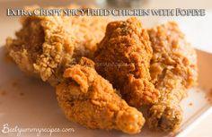 Extra-Crispy Spicy Fried Chicken with Popeye - http://www.thinkarete.com/extra-crispy-spicy-fried-chicken-with-popeye/