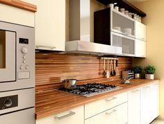 kitchen with wooden desk