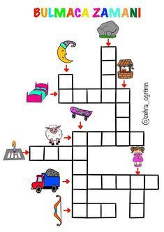 Turkish Lessons, Turkish Language, Crossword, Activities, Crossword Puzzles