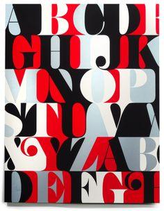 House Industries - Caslon Alphabet Print