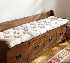 Pottery Barn's expertly crafted collections offer a widerange of stylish indoor and outdoor furniture, accessories, decor and more, for every room in your home. Entryway Bench Storage, Entry Bench, Entryway Furniture, Bench With Storage, Diy Furniture, Storage Benches, Barn Storage, Space Furniture, Rustic Furniture