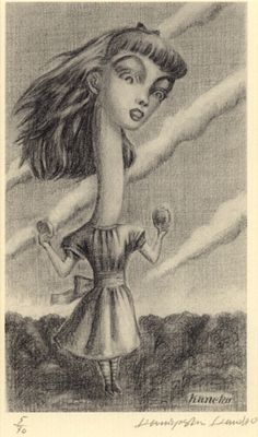 Alice in wonderland,  Kaneko Kuniyoshi / 金子國義. Japanese born in 1936