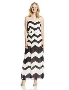 5993b43832 Black Friday My Michelle Women s Chiffon Chevron Maxi Dress
